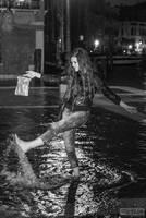 Mia in the flood by stefangrosjean