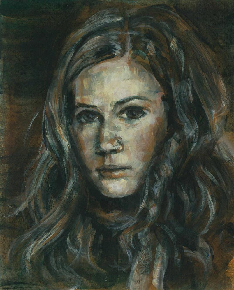 Amy pond - Karen gillan by Alea-Lefevre