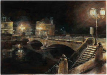 putanges pont ecrepin by night by Alea-Lefevre