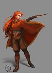 Ginny Weasley by Alea-Lefevre