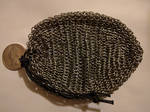 Chainmail pouch - Small links, full size, empty