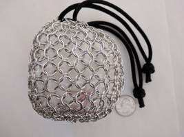 Chainmail pouch - 'Big' links, full by demuredemeanor