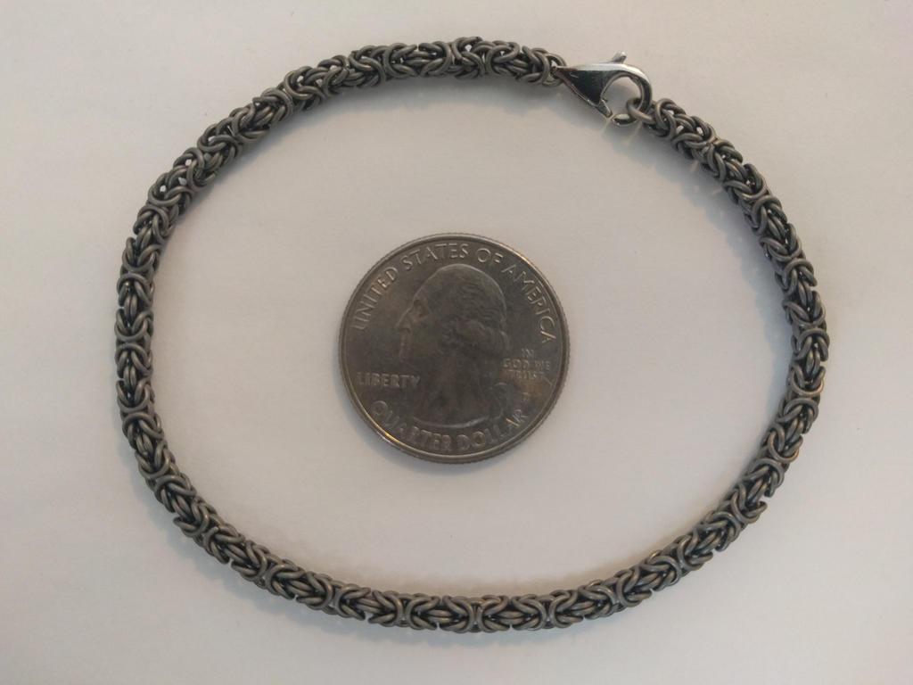 Byzantine Bracelet - 22ga Titanium by demuredemeanor
