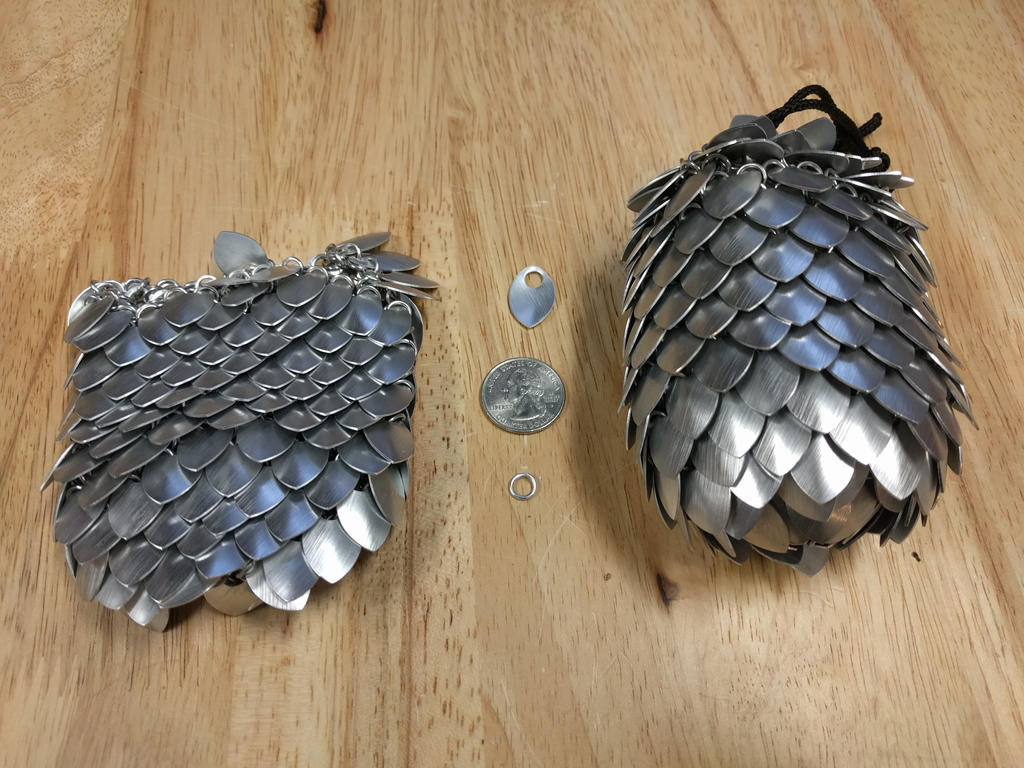 Aluminum Small Scale Pouch - Empty And Full by demuredemeanor