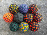 45 Face Globe knot, three passes, hand sized