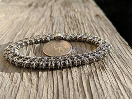 Modified Byzantine Bracelet - 20ga Steel by demuredemeanor