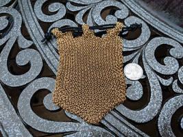 Hoodoo Hex Weave Bag - Brass 20ga - Empty by demuredemeanor