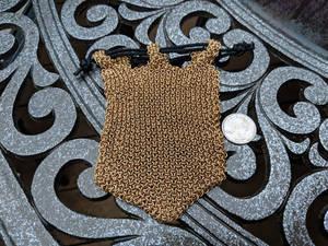 Hoodoo Hex Weave Bag - Brass 20ga - Empty