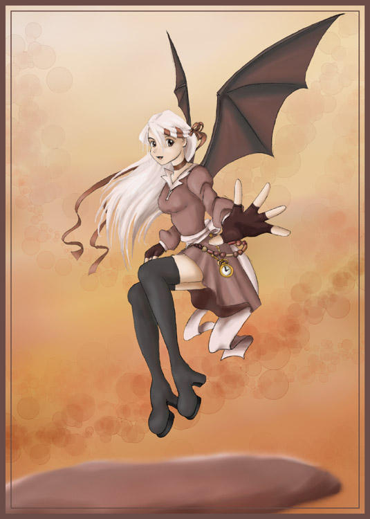 Bat Winged Girl By Madelief