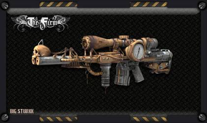 Steampunk meteor sniper rifle by kassor