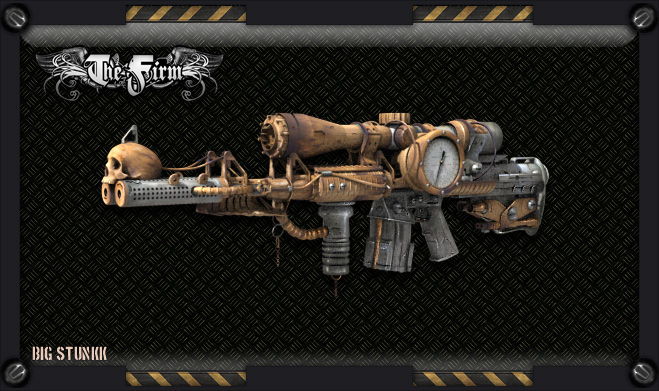 Steampunk meteor sniper rifle by kassor