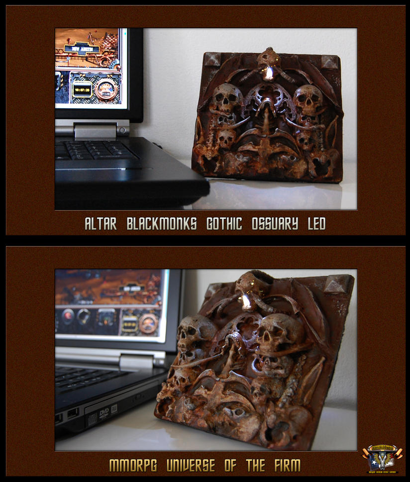 Altar Blacmonks Gothic Ossuary USB LED by kassor