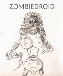 Zombie droid girl by kassor