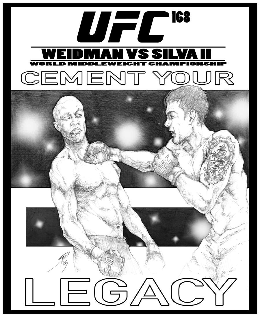 UFC 168 Poster by Raikoh101Ufc 168 Poster