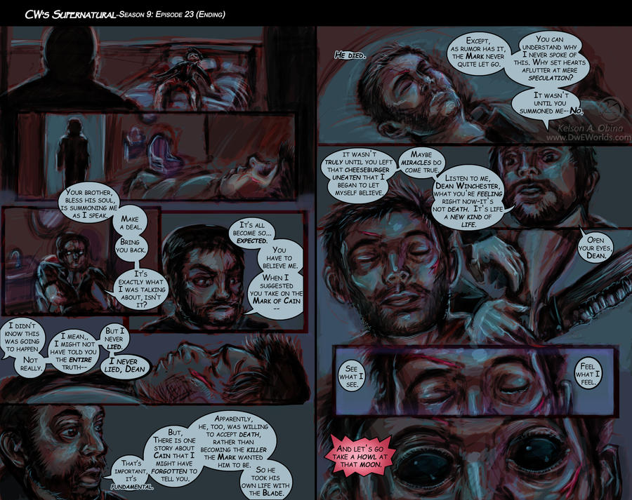 Supernatural Season 9 finale comic. by TheCreationist