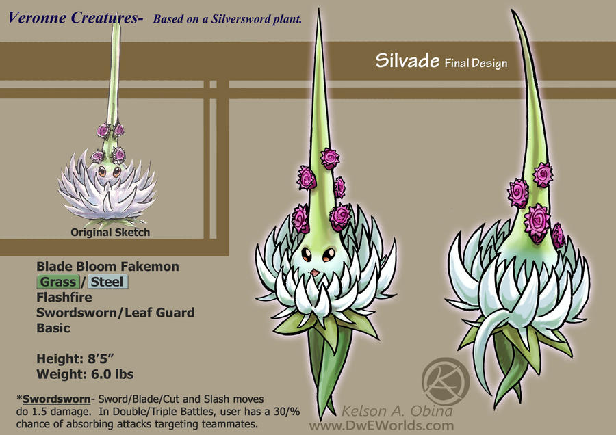 Silvade Design sheet by TheCreationist
