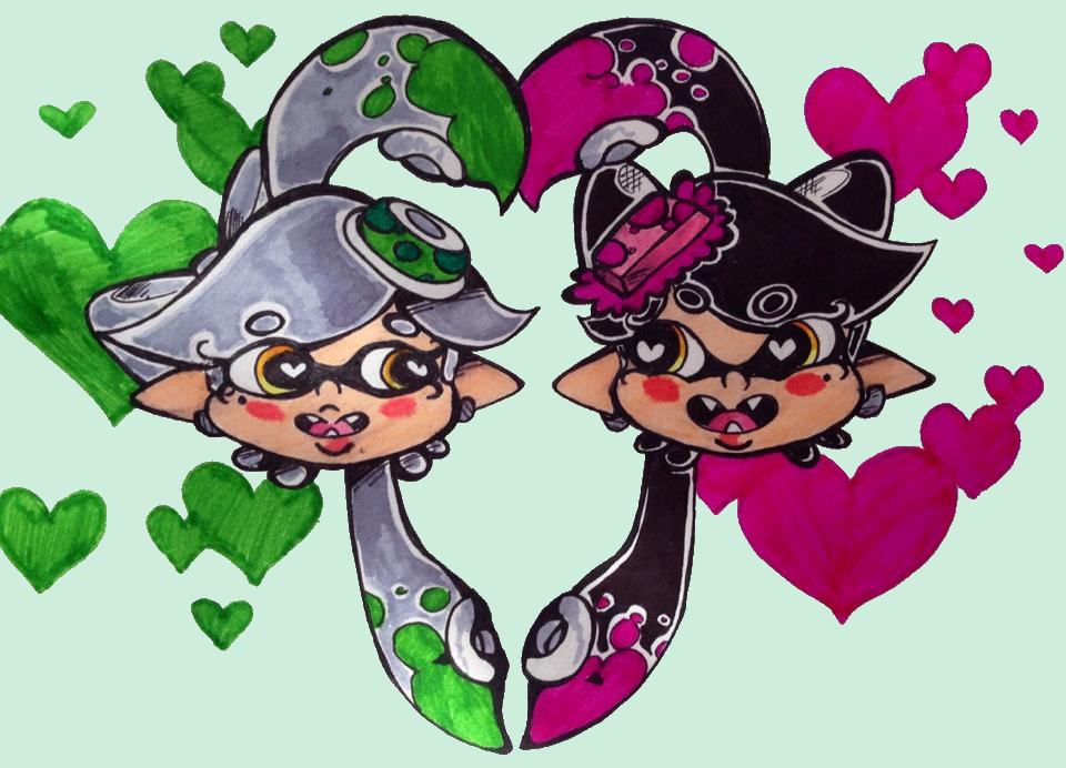 Callie And Marie Wallpaper: Callie And Marie By MarshallTrap On DeviantArt