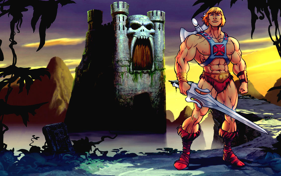 He Man And GraySkull Castle By B3lz3bu