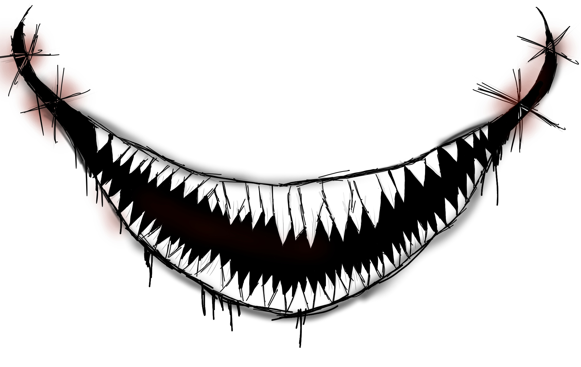 It is an image of Shocking Scary Mouth Drawing