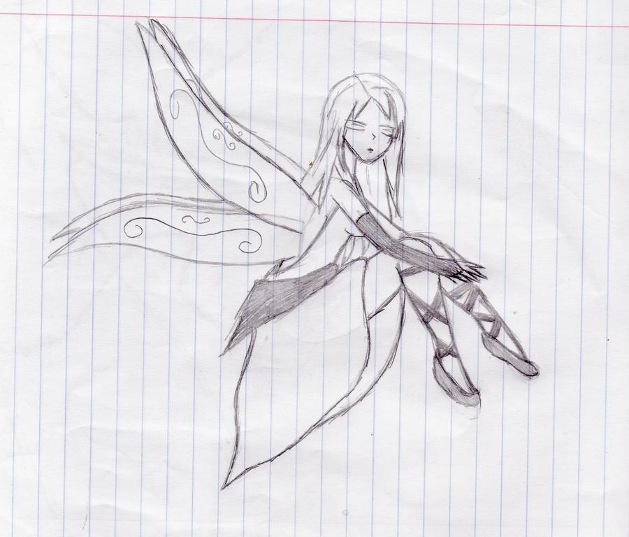 Cool Drawings Of Fairies My random fairy drawing by