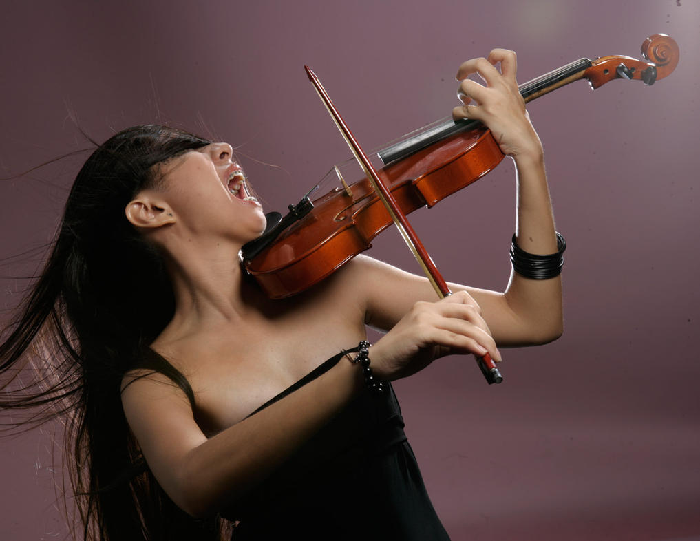 Girl With Violin 3 by b-e-c-k-y-stock