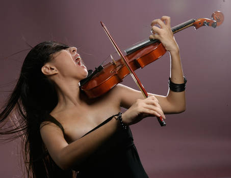 Girl With Violin 3