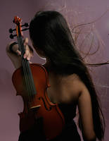 Girl With Violin 4 by b-e-c-k-y-stock