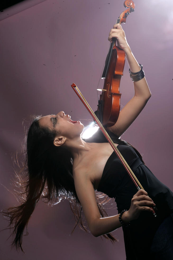 Girl With Violin 6 by b-e-c-k-y-stock