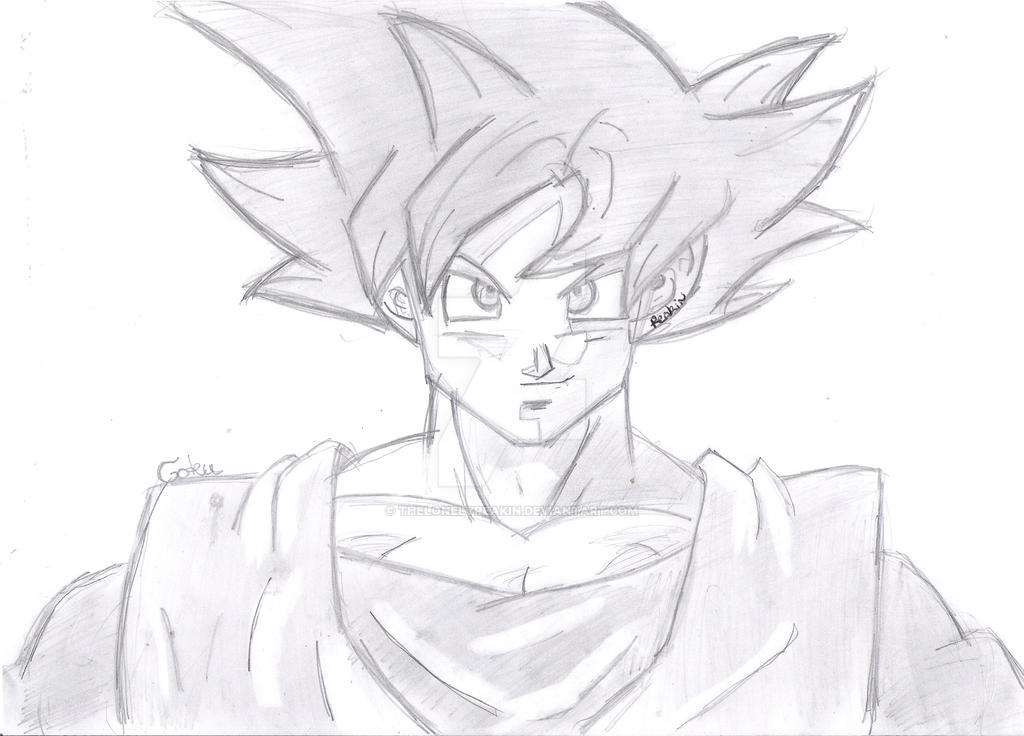 how to draw goku super saiyan god blue