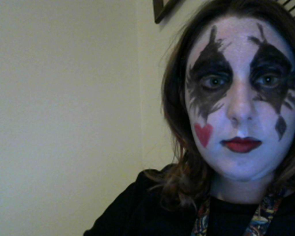 harley quinn makeup by imaginaryfriend6