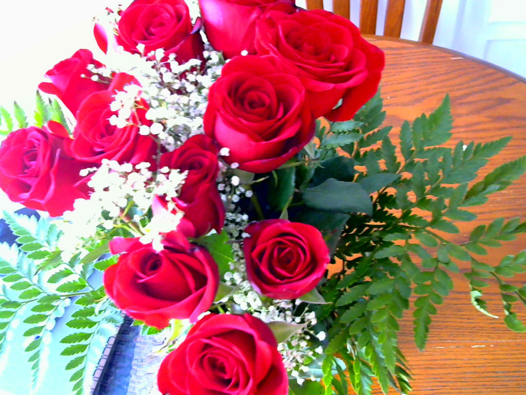 birthday roses =) by imaginaryfriend6