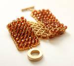 Bohemian Glass Beads Bracelet by Maffabijou