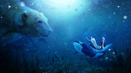 Girl Underwater Dream 4k-1366x768