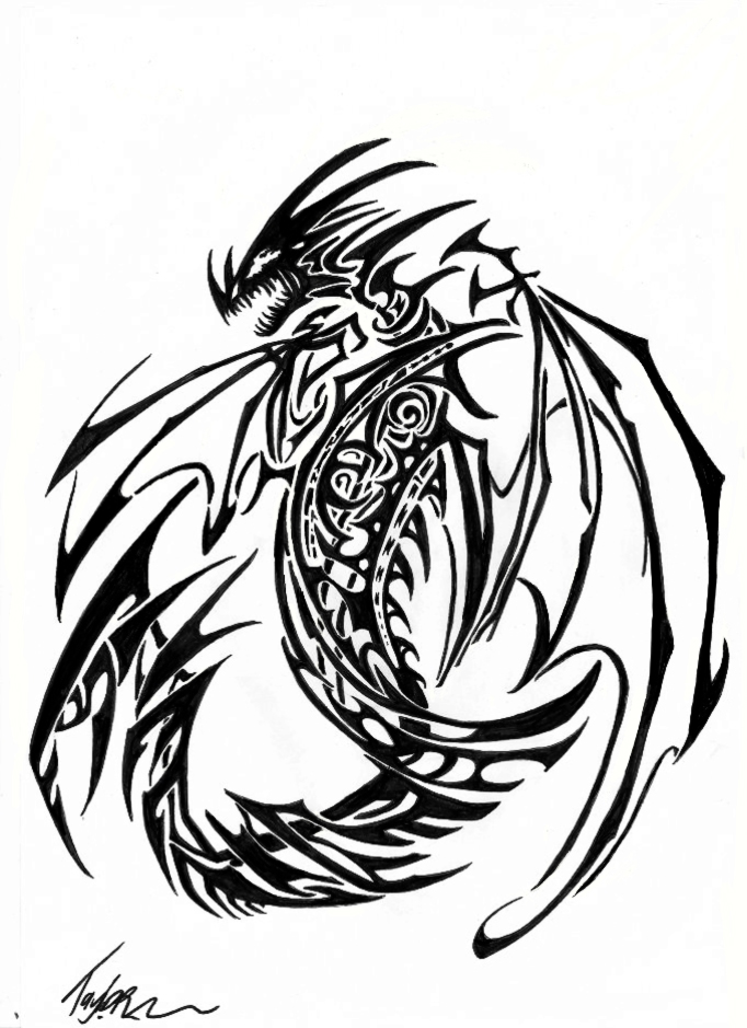 Tribal Dragon 4 by Ruth-Tay