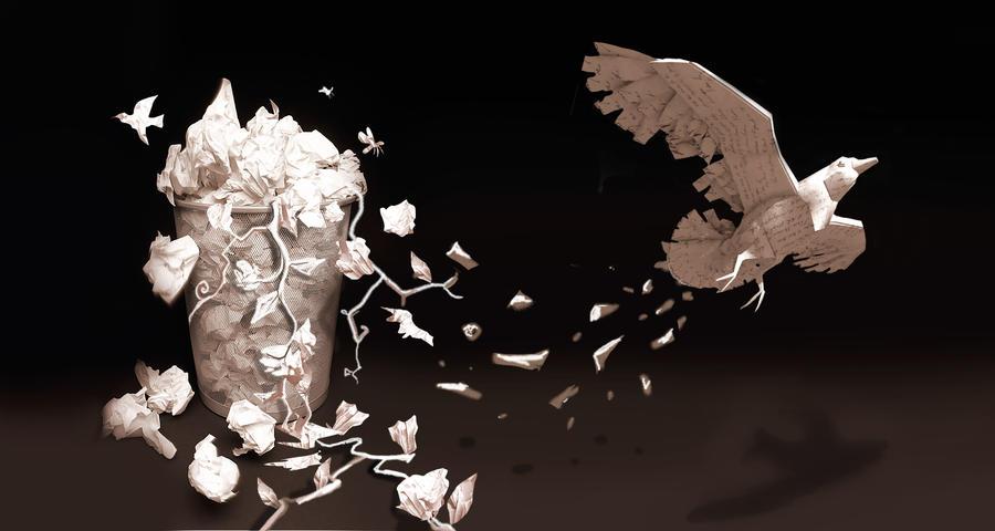 Visual Paper bird