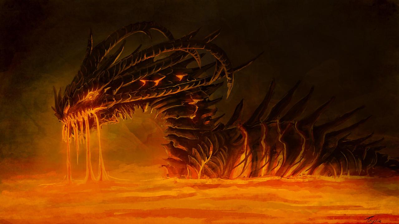 dreamy fantasy fire baby dragon lava artwork wallpaper high