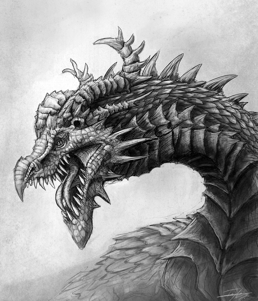 spiked dragon by ruth tay on deviantart