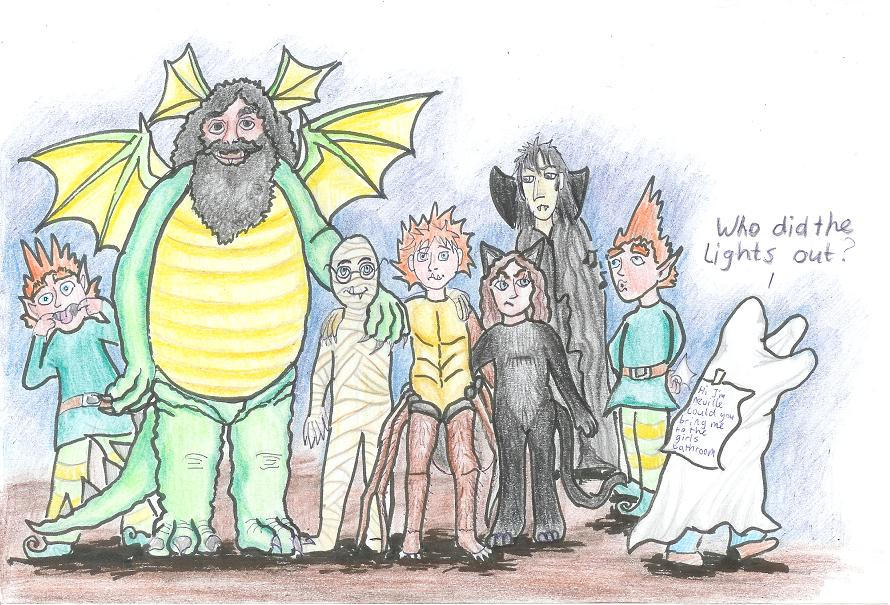 halloween group drawing HP by Ruth-Tay