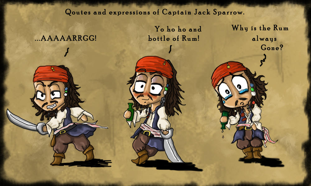 Why Is The Rum Gone Quote: Quotes Of Little Cap'n Jack By Ruth-Tay On DeviantArt