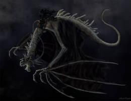 Nazgul riding a Fellbeast by Ruth-Tay