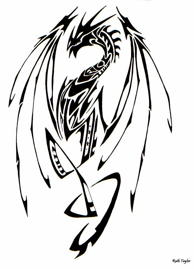 Tribal Dragon 2 by Ruth-Tay
