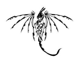 Tribal dragon 3 by Ruth-Tay