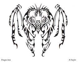 Tribal Dragon Love by Ruth-Tay