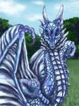 The gaze of the blue dragon