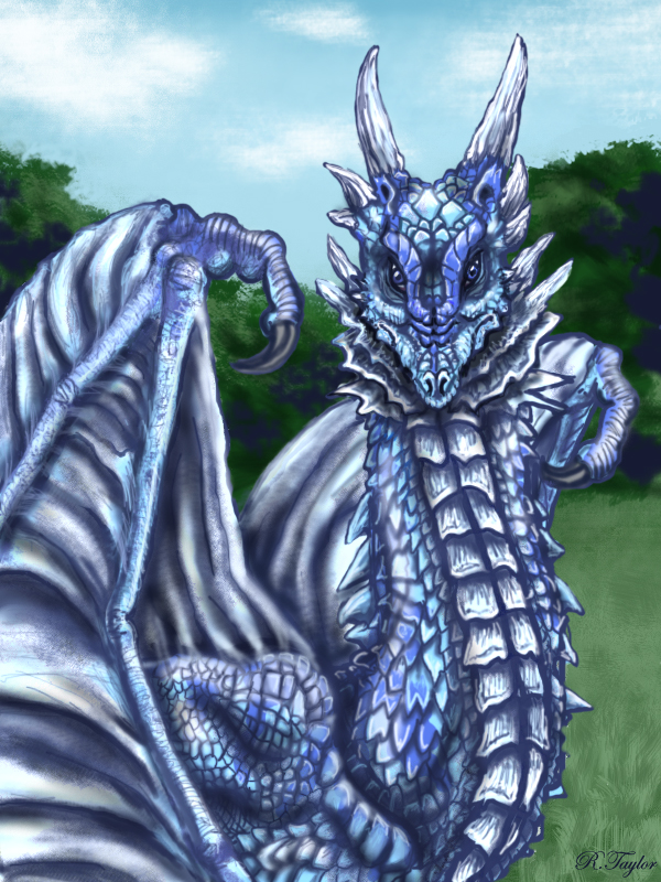 The gaze of the blue dragon by Ruth-Tay