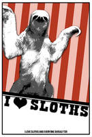 I Love Sloths by VIAESTA