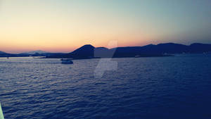 sundown by the sea