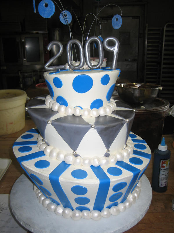 Graduation Cake Decorations Red White And Blue