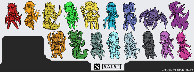 dota 2 female heroes 2014 by alphanite on deviantart