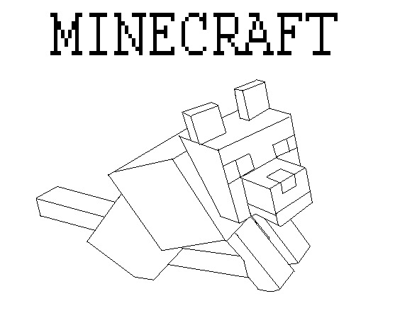 How To Draw Minecraft Wolf